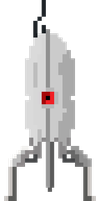 Pixel Portal Turret by pizzapants