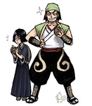 hanatarou and ganjyu by emlan
