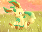 Lonely Leafeon by FuwaKiwi