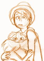 Lorax sketch by Booboo-kitty-cat