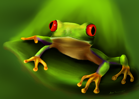 Tree Frog! by Sno-Drop
