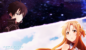 Asuna and Kirito by AkilaChione