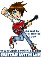 Guitar with Lee Mascot by Niki-UK