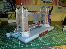 Tower bridge papercraft 2 by Marlous2604