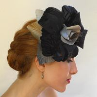 Velvet Lily with Hair Comb by tracyholcomb