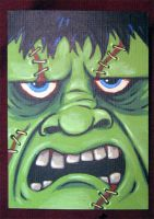 Frankenstein ATC by ReverendBonobo