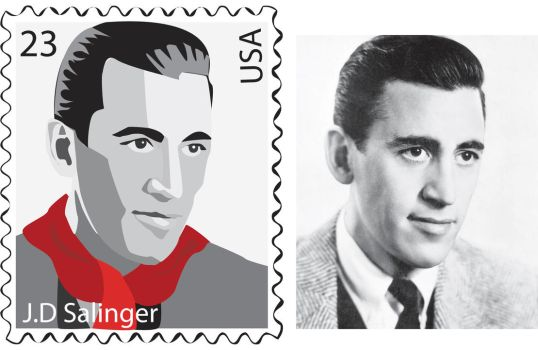J.D Salinger Stamp by May5