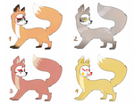 Masked Foxes Adoptables [OPEN] by potion-seller