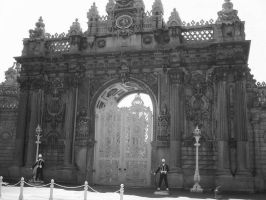 Gate Of Dolmabahce Palace by junkcan