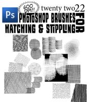Hatching and Stippling Brushes by bozoartist