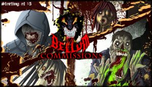 Macabre commissions banner by Deviant-BELLUM