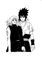 Sasuke and Sakura by Turskeluth