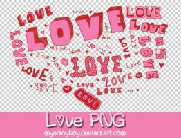Love Text PNG by MyShinyBoy