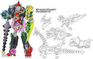 DragonBeast Megazord by Tyrranux