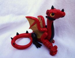 Hellboy Dragon Sculpture by ByToothAndClaw