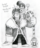 King Ralph and Princess Vanellope by GigaPichu