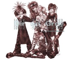 Chibified Dir en Grey by luvmegabyte