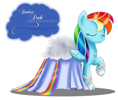 Gala Fashion 2012 - Rainbow Dash by selinmarsou