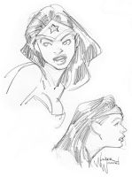 Wonder Woman Sketches by scamble