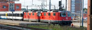 SBB Re 4-4 II 11140 + 11144 by SwissTrain