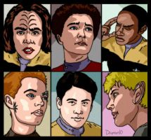 Voyager characters by Damon1984