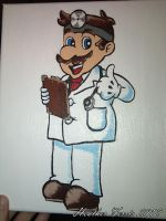 Dr. Mario Painting by Heather-Ferris