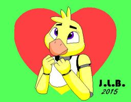 FNaF: Chica's Valentine by SammfeatBlueheart