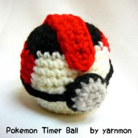Pokemon Timer Ball Amigurumi by yarnmon