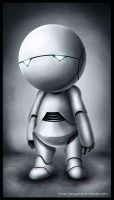 Marvin the Paranoid Android by yotyssup