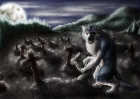 Werewolf - The not very friendly one by Kafannia