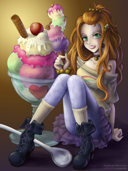 dance-on-the-moon - Ice Cream by puppetka
