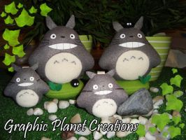 My Neighbor Totoro Plushies - Tonari no Totoro by GraphicPlanetDesign