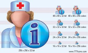 Doctor info Icon by medical-icon-set