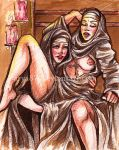 Pin Up Card - Nuns by Darya87