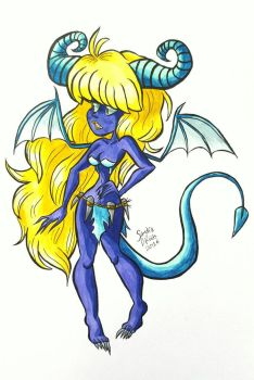 Blue Demon by happydoodle