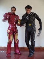 IronMan and Wolverine by Kryptoniano