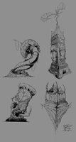 Design #4: Demon towers by MOK-SK