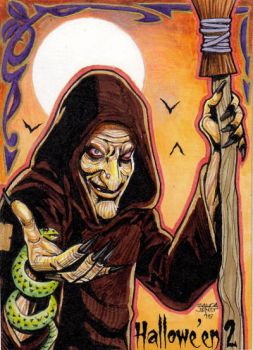 Hallowe'en 2 - Evil Witch sketch card by JASONS21