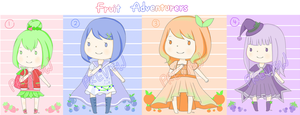Adoptables - Fruit Adventurers  1 Left![Closed] by LeMochaCrumbles