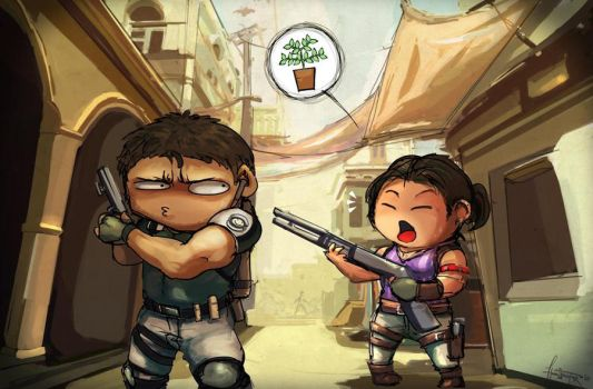 Resident Evil 5: Herbs by haruningster