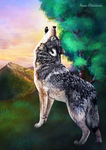 Howling Wolf by Cisanne