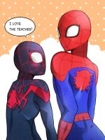 spidey and spidey by erodayu