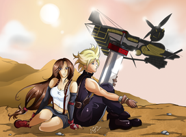 Final Fantasy VII Moments - Under the Highwind by DarkRinoa88