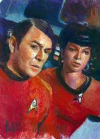 star trek 50th oil sketch 7 by charles-hall