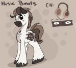 New OC: Music Beats by Drawing-Heart