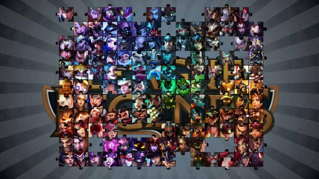 League of Legends - Puzzle Wallpaper by QuinnCrystal