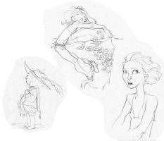Tiki Playhouse Character Sketches by CasCanete