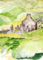 ruined schoolhouse loch croispol by merearthling