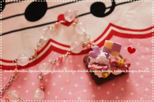 lolita party necklace by Fraise-Bonbon