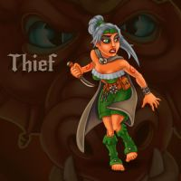 Thief (char for RPG/Roguelike Dragon's Dungeon) by Vadich